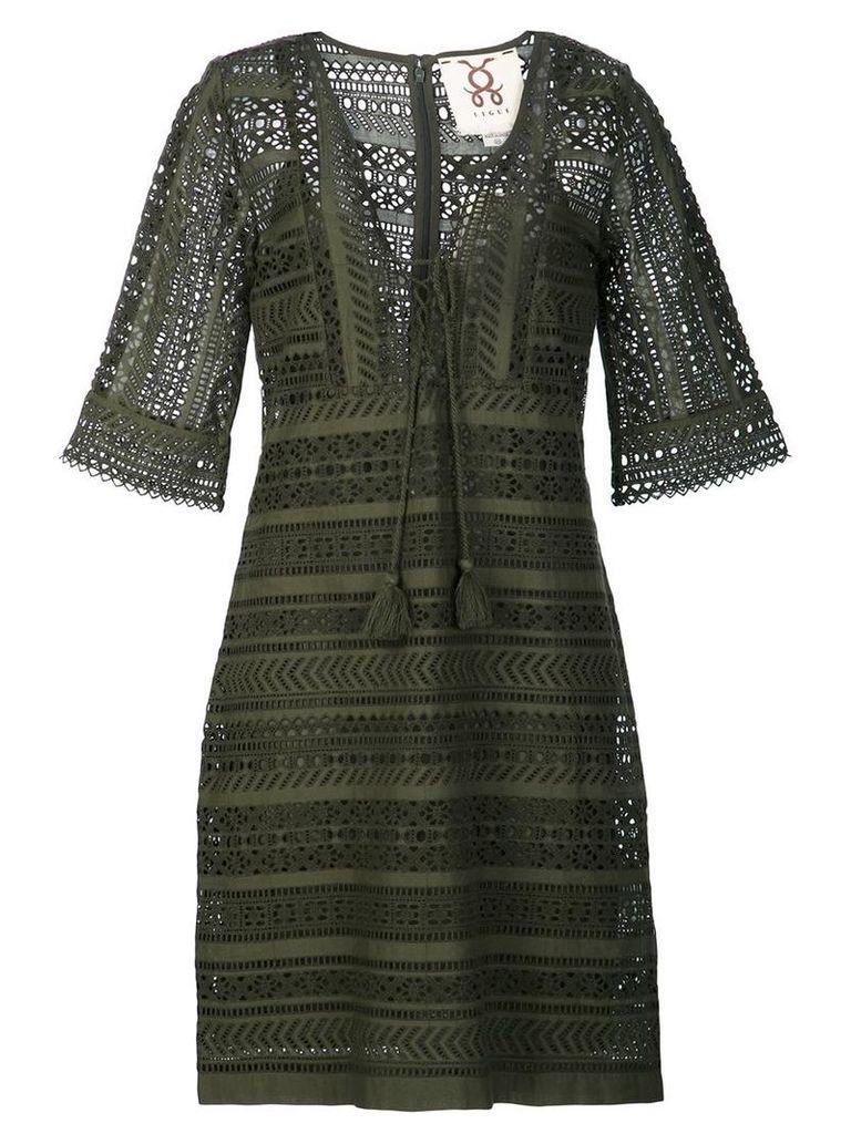 Figue - 'Marlin' dress - women - Cotton - XS, Black