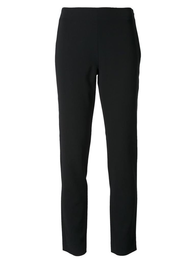Moschino - slim fit trousers - women - Polyester/Triacetate - 46, Black