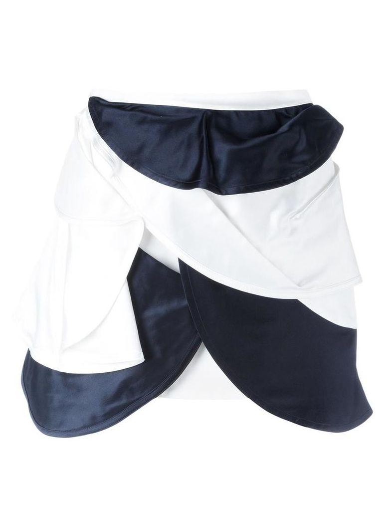 J.W.Anderson - orbital layered mini skirt - women - Silk/Acetate - 6, White