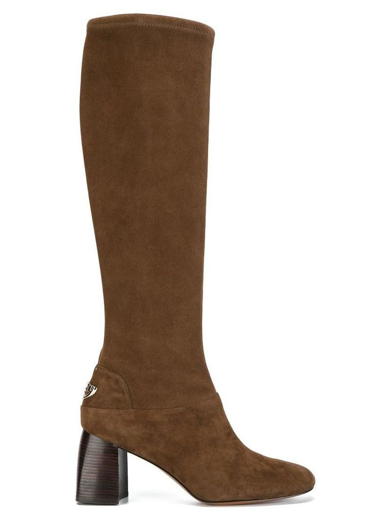 Tory Burch - 'Midi Sidney' boots - women - Leather/Suede/Nylon - 40, Brown