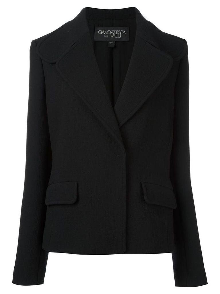 Giambattista Valli - concealed fastening cropped jacket - women - Silk/Polyamide/Virgin Wool - 44, Black