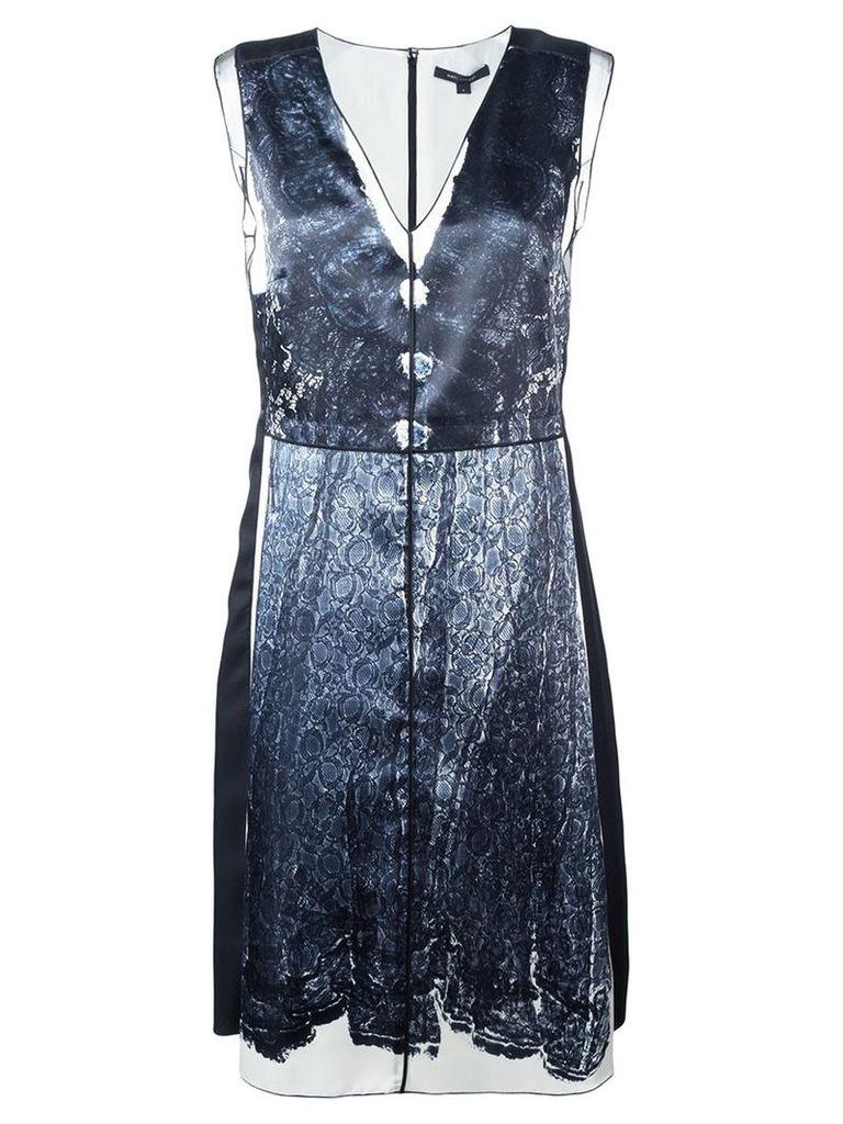 Marc Jacobs - trompe-l'ail lace print dress - women - Silk/Polyester - 4, White