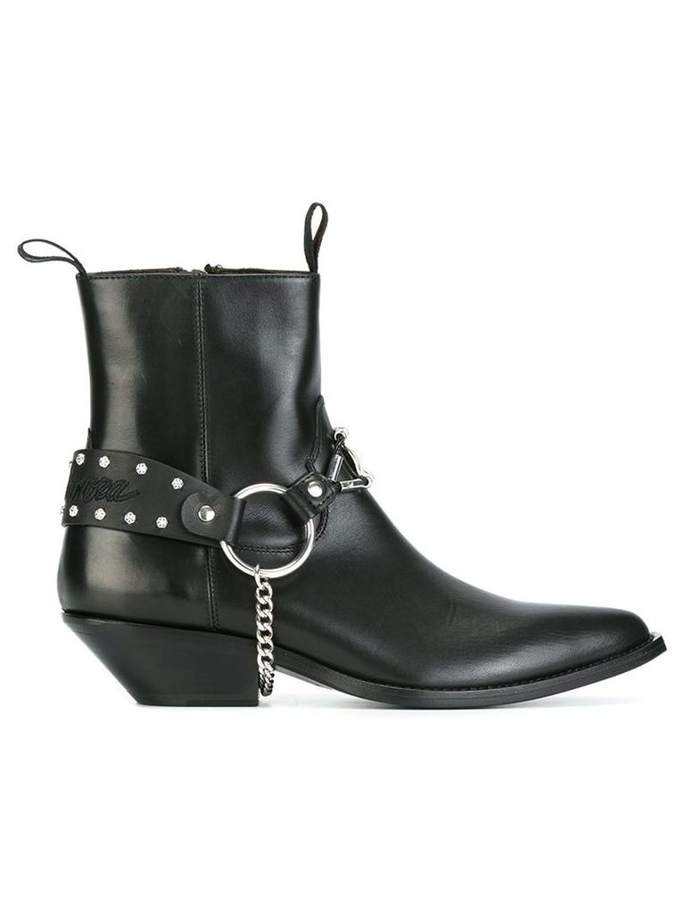 Sonora - chain detail boots - women - Leather/metal - 8, Black