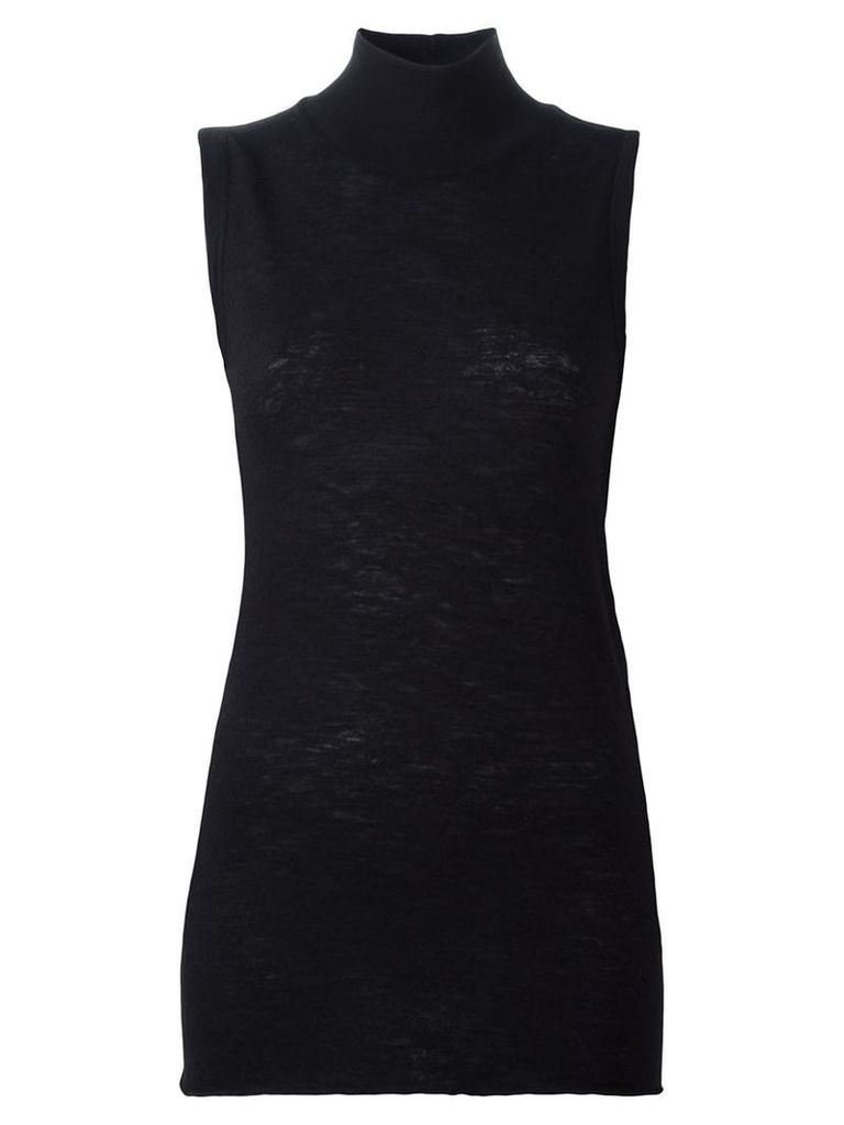 Rick Owens Lilies - roll neck tank top - women - Silk/Cashmere - 42, Black