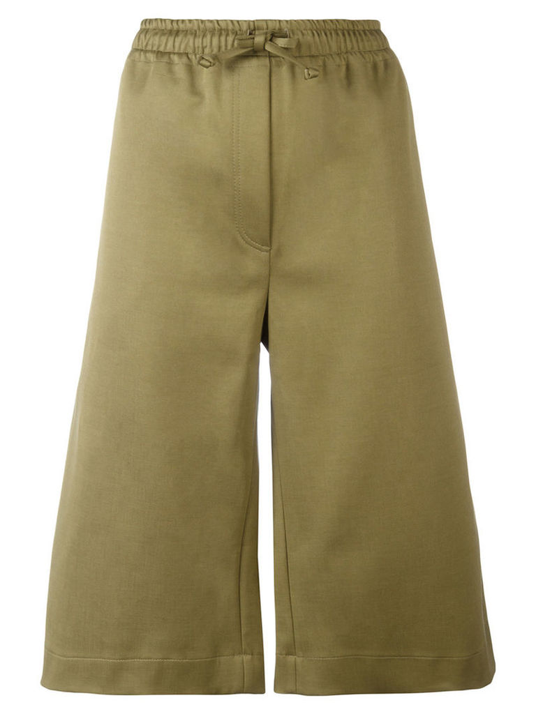 Joseph - drawstring track shorts - women - Cotton/Polyamide/Spandex/Elastane - 34, Green