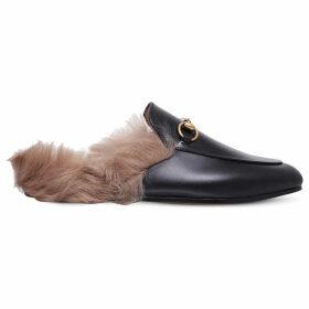 Gucci Princetown leather slippers, Women's, Size: EUR 36.5 / 3.5 UK WOMEN, Blk/beige