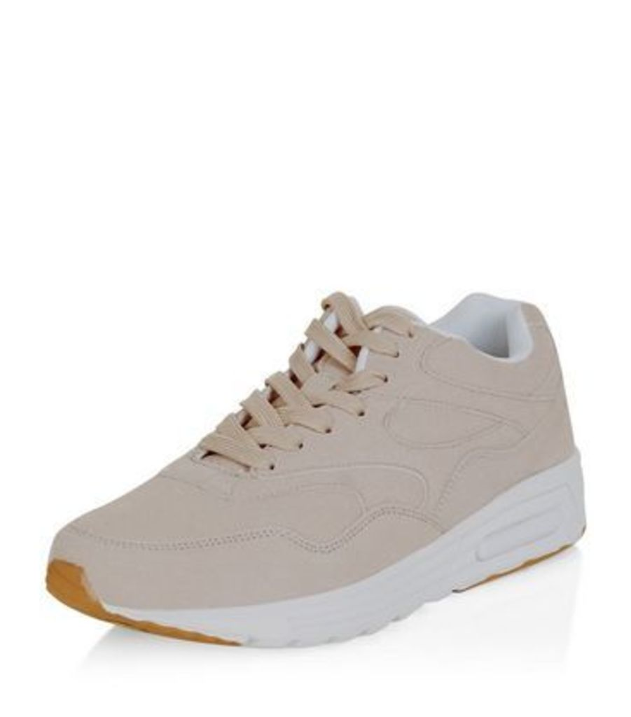Camel Textured Trainers