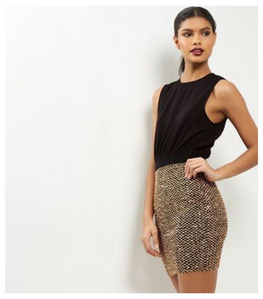 AX Paris Black Sequin 2 in 1 Dress