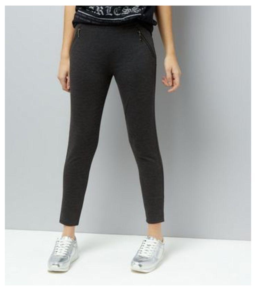 Dark Grey Double Zip Leggings