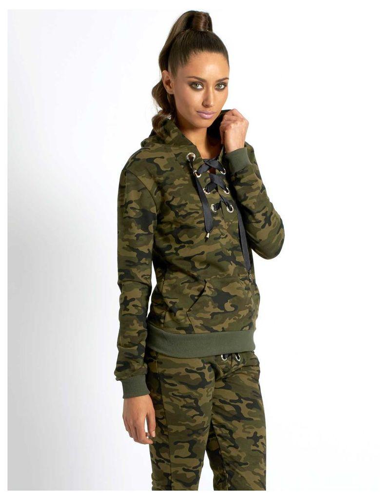 GRACE - Camouflage Tracksuit Khaki