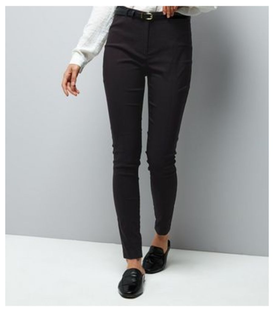 Black Slim Leg Bengaline Trousers