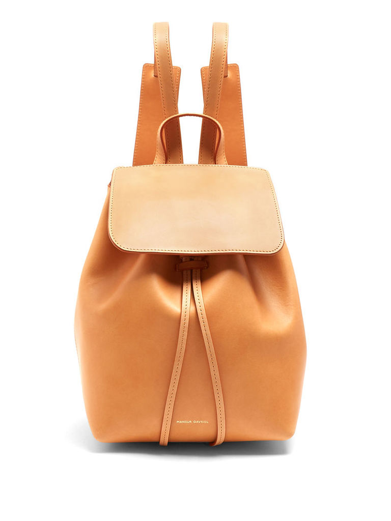 Mini unlined leather backpack