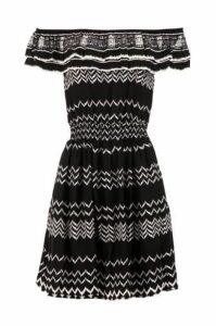 Bardot Print Dress