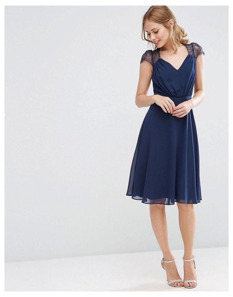 ASOS Kate Lace Midi Dress - Navy