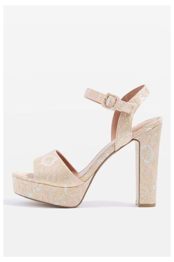 Womens MILAN Platform Shoes - Nude, Nude
