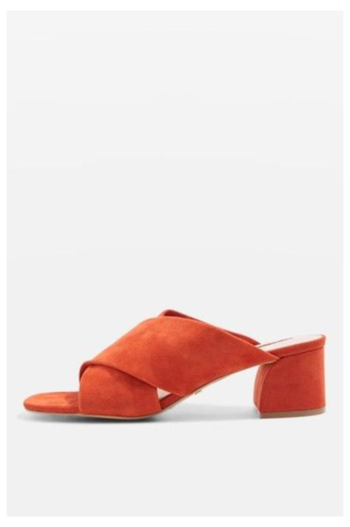 Womens NORTI Cross Strap Sandals - Rust, Rust