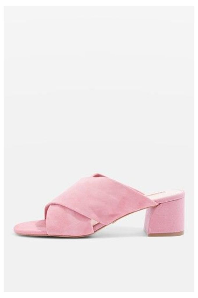 Womens NORTI Cross Strap Sandals - Pink, Pink