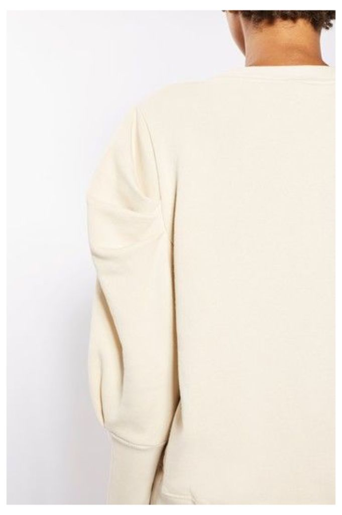 Womens Statement Sleeve Sweat Top by Boutique - Buttermilk, Buttermilk