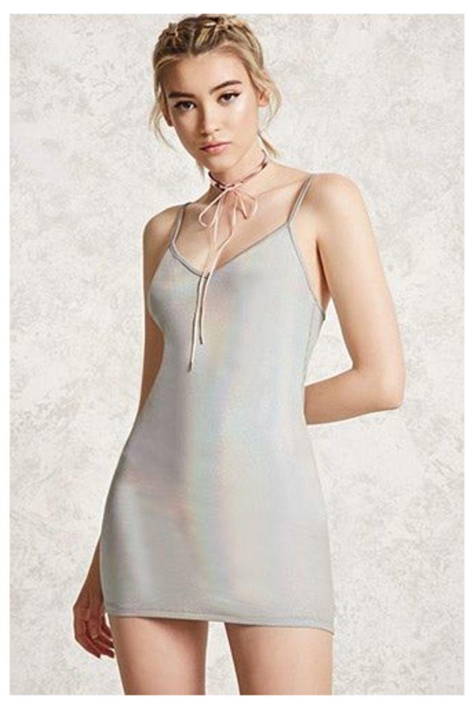Iridescent Mini Dress