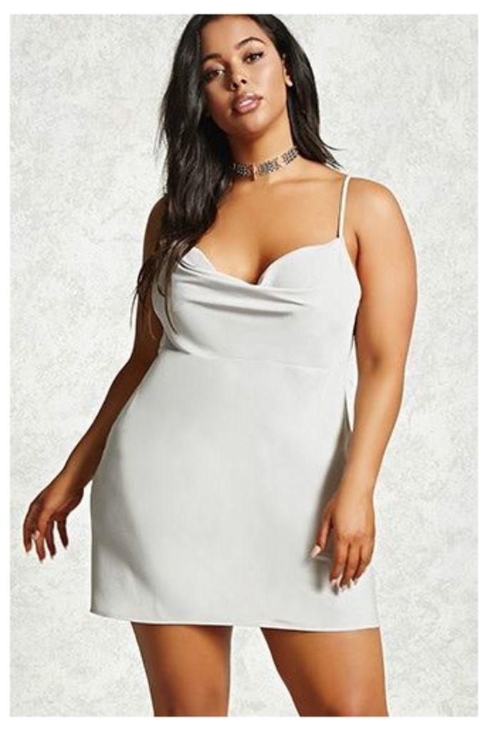 Plus Size Cowl-Neck Slip Dress