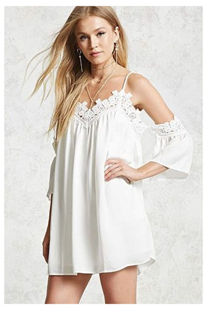 Crochet Open-Shoulder Dress