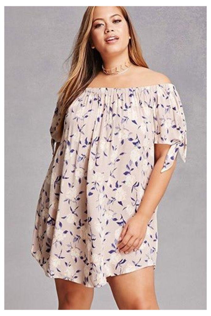 Plus Size Off-the-Shoulder Dress