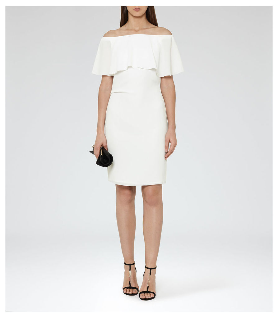 REISS Balm - Womens Off-the-shoulder Dress in White