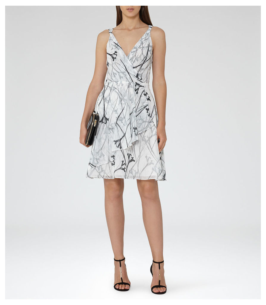REISS Elsie - Womens Fit And Flare Dress in Black