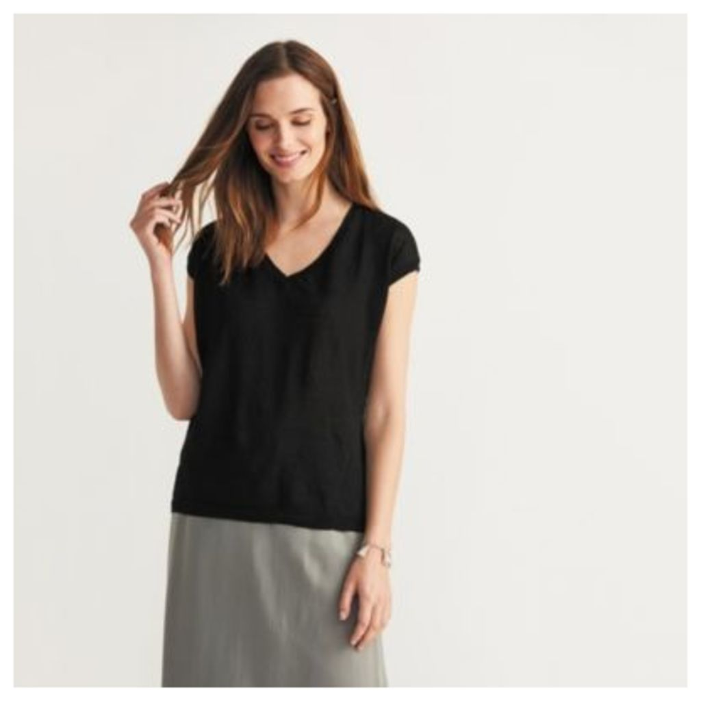 V Neck Button Back Jumper