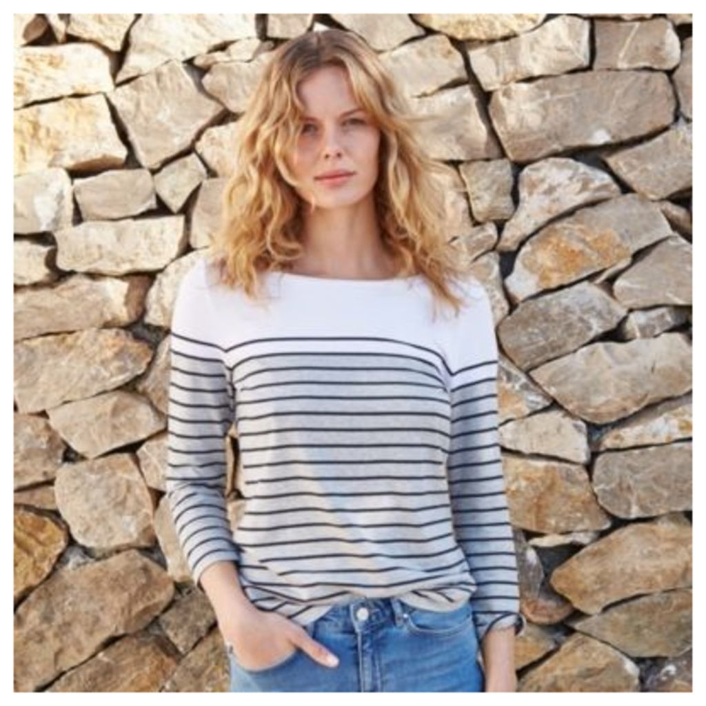 Colour Block Breton Stripe T-Shirt