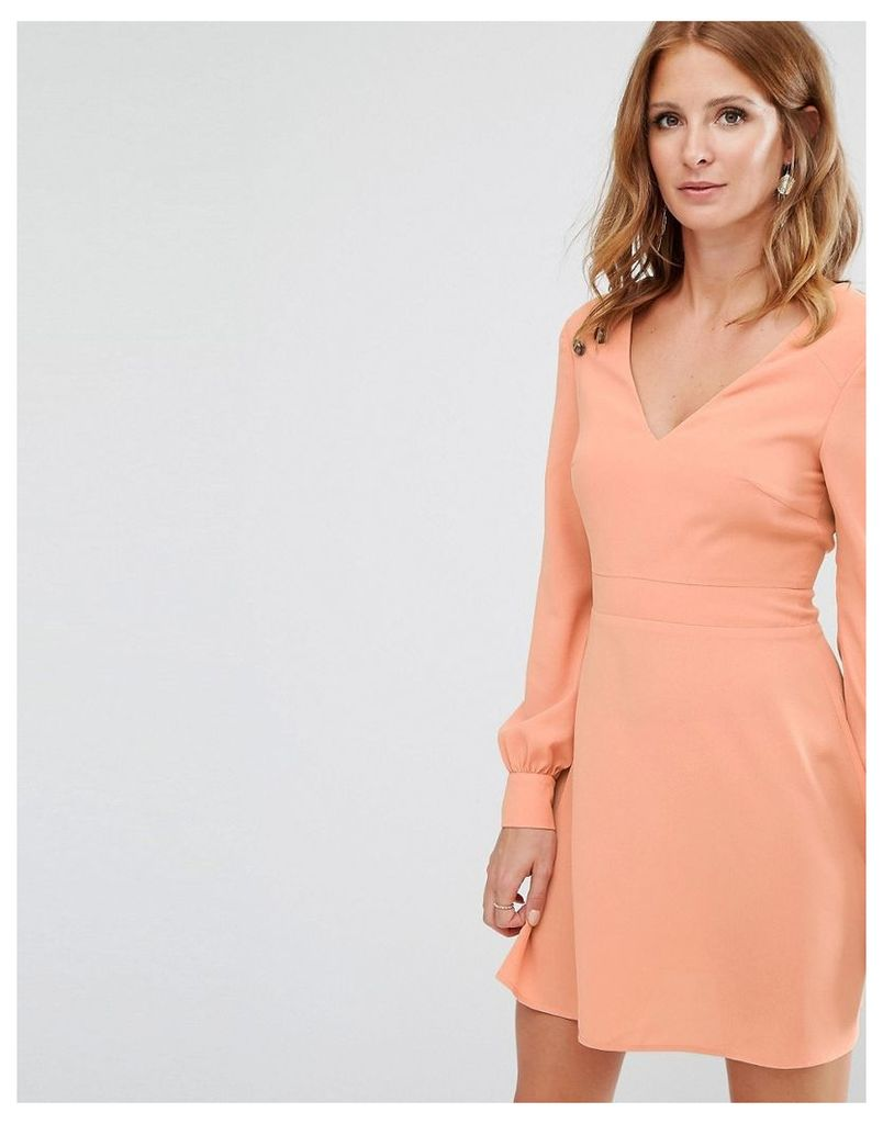 Millie Mackintosh Button Detail Mini Dress - Pink
