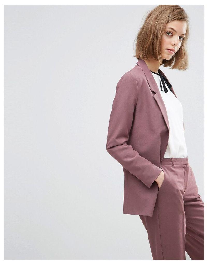 ASOS Slim Tailored Jacket In Crepe - Dusky berry