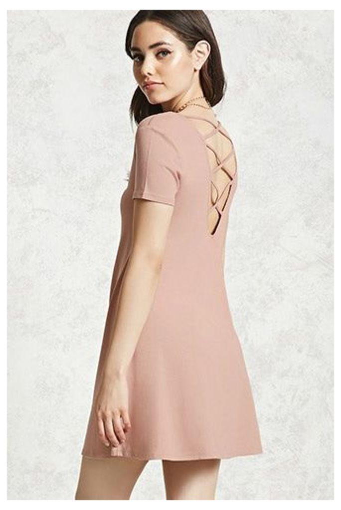 Crisscross Back Mini Dress