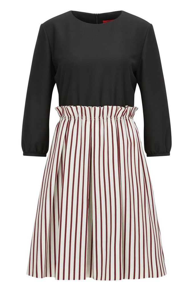 Regular-fit dress in pure cotton