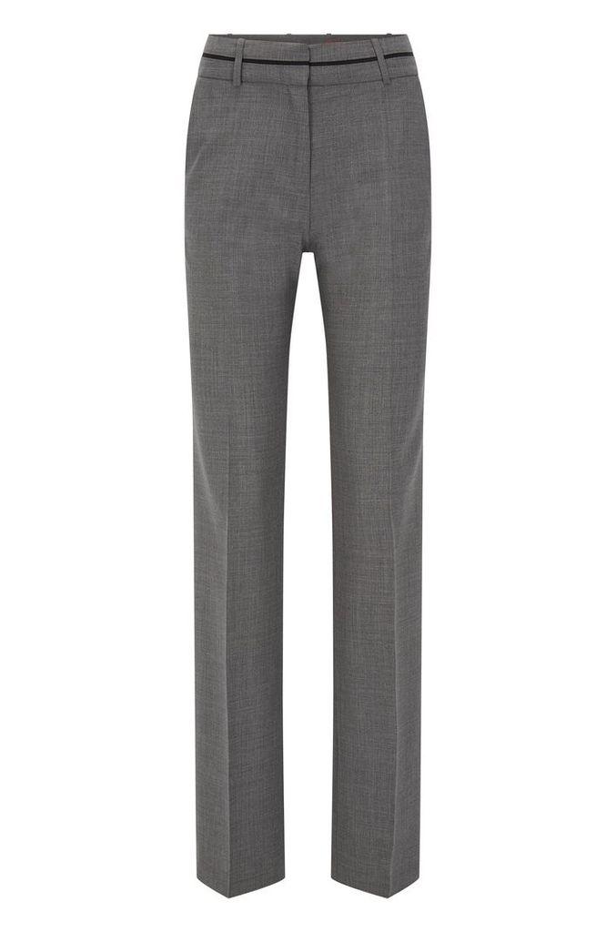 Regular-fit trousers in a virgin wool blend