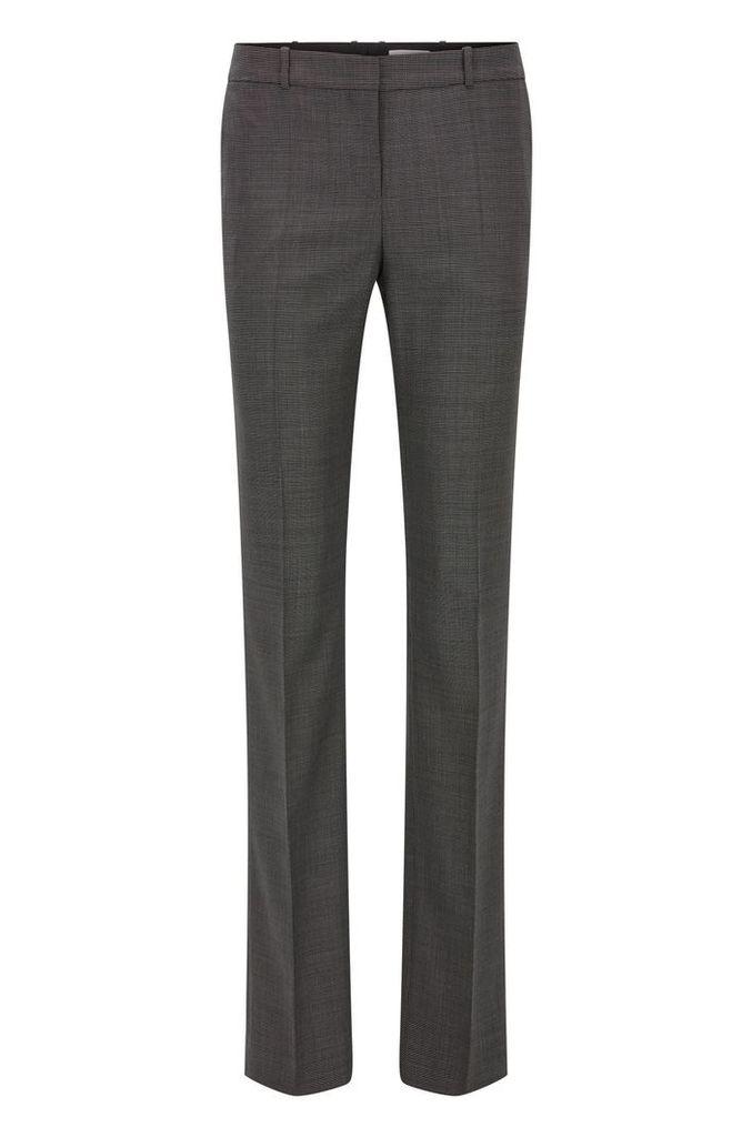 Regular-fit trousers in stretch virgin wool