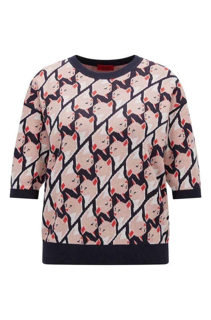 Regular-fit cotton-blend sweater