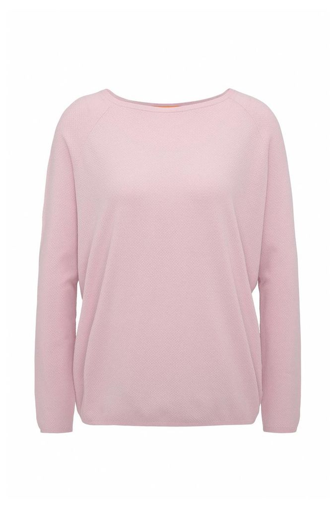 Lightweight relaxed-fit sweater in knitted piqué