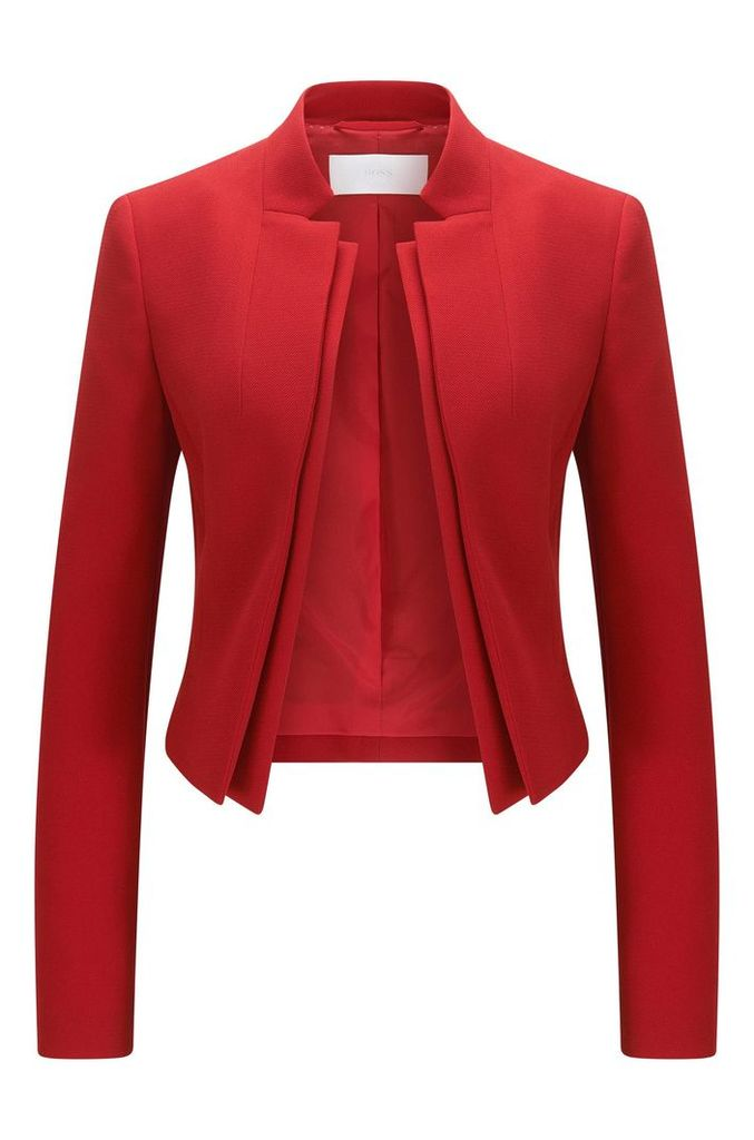 Regular-fit crêpe jacket with double lapel