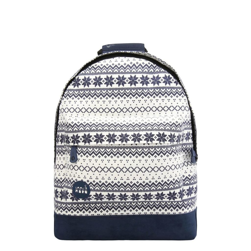 Mi-Pac Fairisle Backpack - Navy/White (One Size Only)