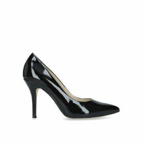 Nine West Flax - Black Mid Heel Court Shoes