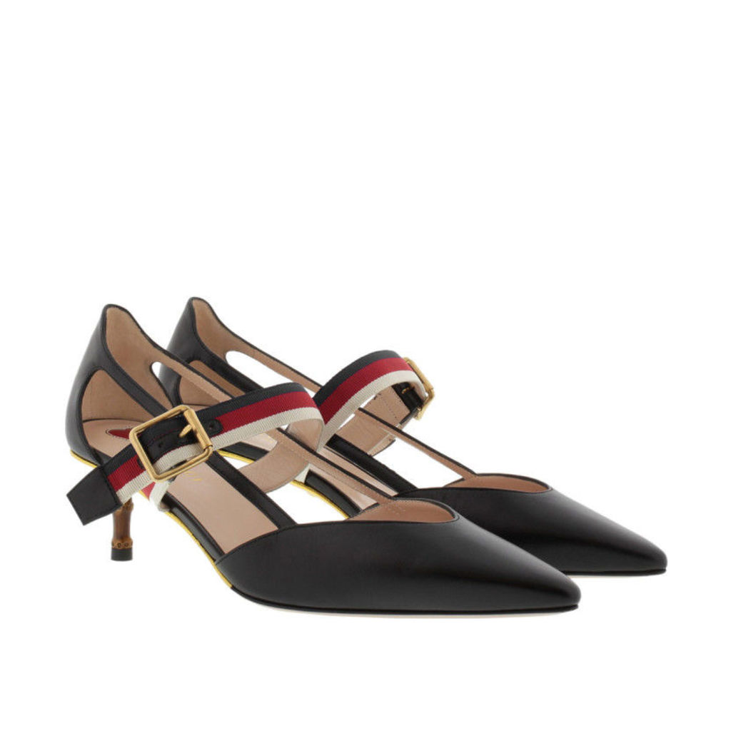 Gucci Pumps - Bamboo Heel Pumps Web Strap Black - in black - Pumps for ladies