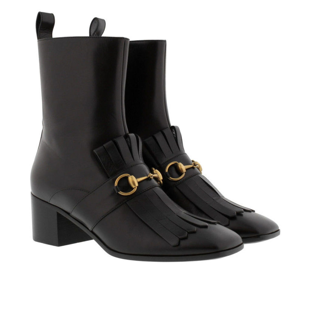 Gucci Boots & Booties - Malaga Kid Fringed Boots Black - in black - Boots & Booties for ladies