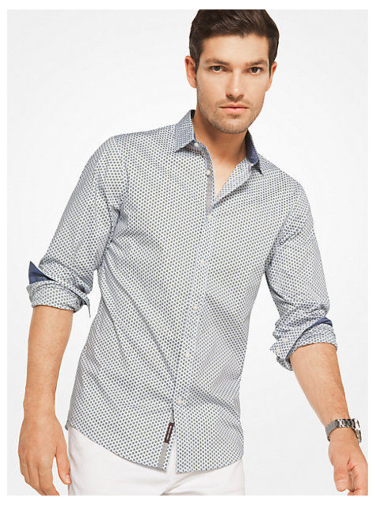Slim-Fit Stretch-Cotton Shirt