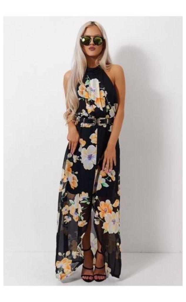 Mia Floral Split Maxi Dress