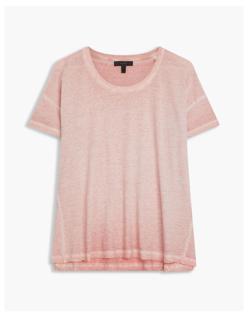 Belstaff Alisma Washed T-Shirt Vintage Rose
