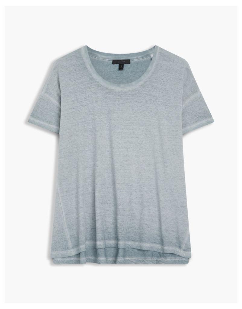 Belstaff Alisma Washed T-Shirt Smokey Blue