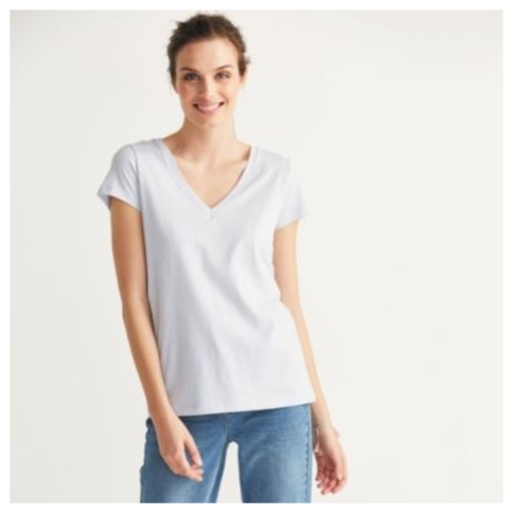 Soft Cotton V Neck T-shirt