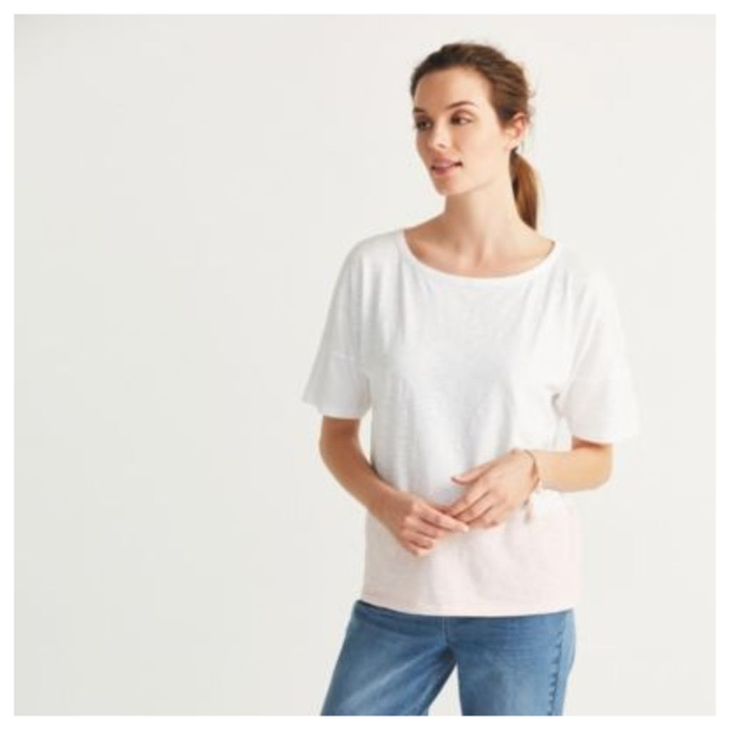 Cotton Slub Colour Block T-Shirt