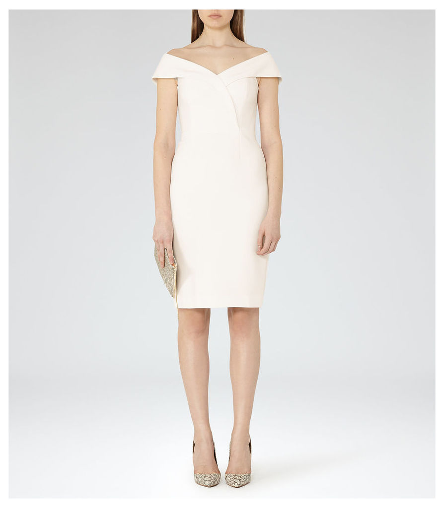 REISS Haddi - Womens Off-the-shoulder Dress in White